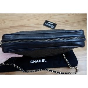 CHANEL Bags - CHANEL~Black Quilted Large Camera Bag~Chain Handle